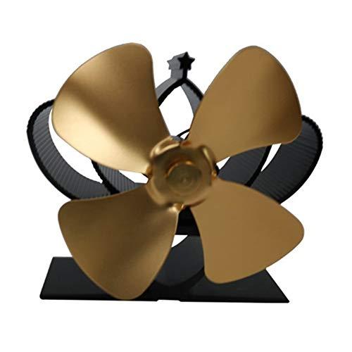 #N/V YL201 Ventilador de chimenea de energía térmica alimentado por calor ventilador de estufa de madera para leña/quemador de leña/chimenea, respetuoso con el medio ambiente de cuatro hojas