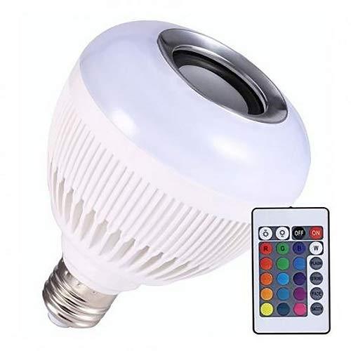 Lâmpada Luz Led Bluetooth Música + Controle