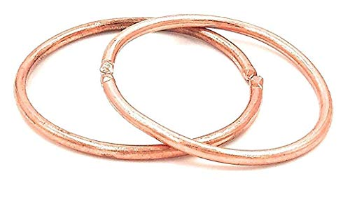 BigMart™ Kids Pure Copper Tube-Shaped Adjustable Daily Wear Simple Challa Kada Bracelet Bangle Free Size For for girls and boys (3 Years to 8 Years) PACK OF 2