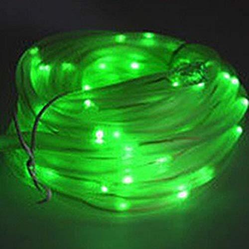 XUNATA Luces Solares Cadena, Impermeable Iluminación al Aire Libre para Interior/Exterior Jardín Decoración Luces (10m (100LEDs) + 2m cable de plomo, Verde)