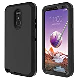 LG Stylo 4 Case, LG Stylo 4 Plus Case, LG Q Stylus Case Heavy Duty Built-in Screen Protector Defender Armor Shockproof Cover High Impact Resistant Rugged case for LG Stylo 4 Plus/LG Stylo 4 Black