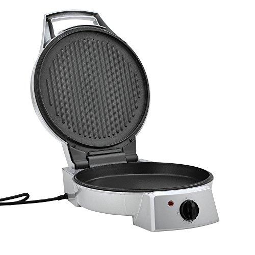 [in.Tec] Máquina de Hacer Pizza, eléctrica - 2 en 1, Horno de Pizza y Barbacoa de Mesa - 1800 W