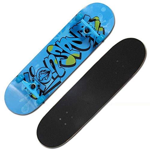 ZMHVOL Monopatín de Dos vías for Adultos Principiantes del monopatín Profesionales Terreno Scooter Tablas de Skate (Color: A) ZDWN (Color : A)