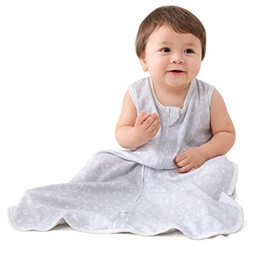 MioRico Saco Dormir Bebe 1 Tog Saquito de Dormir 100% Algodon Organico Recien Nacido Pijama Manta Bebes 4 Estaciones Saco de Dormir para Bebés Regalo Recien Nacidos Niño Niña, 18-24 Meses