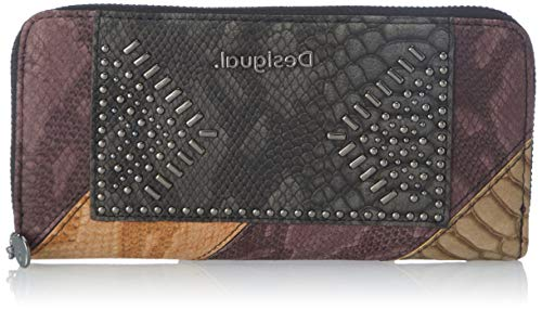 Desigual Womens Accessories PU Long Wallet, Brown, U