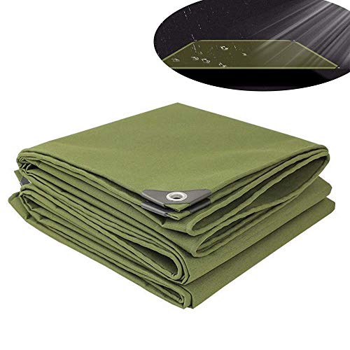 ZGYQGOO Toile Tarp Toile Protection pour bâche Protection en Toile bâche imperméable avec Oeillets- - Housse Camping pour Tente Protection en Toile résistant aux UV -12 Tailles (2M * 2M)