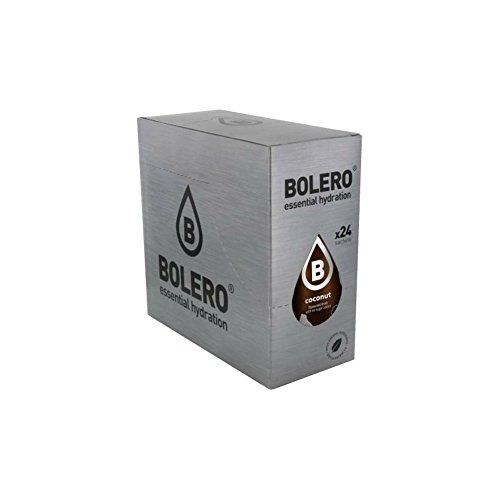 Bolero Drinks 24 bustine da 9 grammi gusto Cocco Preparato istantaneo per Bevande con Stevia e Vitamina C
