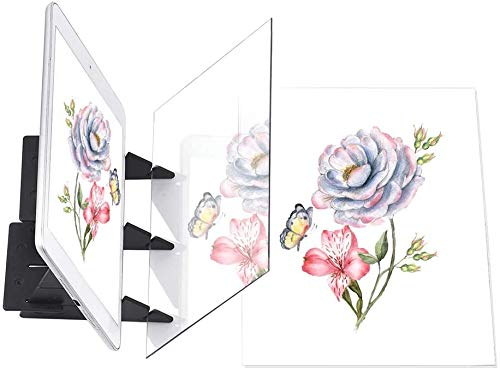 Aiggend Tablero de Dibujo óptico - Proyector de Dibujo óptico portátil Almohadilla de trazado de Dibujo DIY Herramientas de Escritorio de Mesa de Dibujo de Pintura