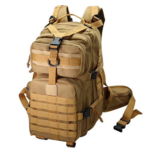 Tactical Backpack for Men Military Fishing Ruckpack Small Black for Hiking Travel Survival Camping Bag