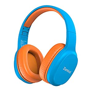 Zamkol Kids Wireless Headphones, Bluetooth 5.0, 40 Hours Playing Time, Portable Foldable Stereo Wireless Headset with…