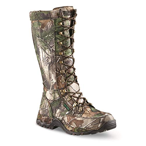 Guide Gear Men's Nylon Rubber Snake Boots, Waterproof and Snake Proof Hunting Shoes, Realtree Xtra Green, 11D (Medium)