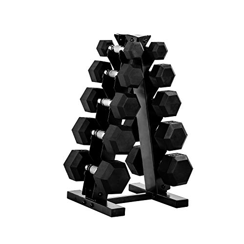 CAP Barbell 150-lb Hex Dumbbell Weight Set with...