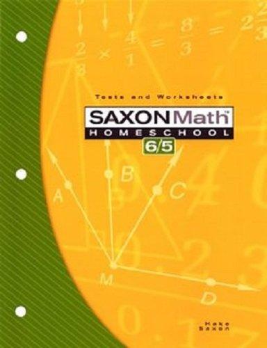 Saxon Math 6/5: Student Test & Practice Generator