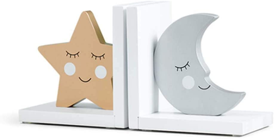 CribMATE Wooden Bookends for Moon Star Thematic Kids sale Fashionable