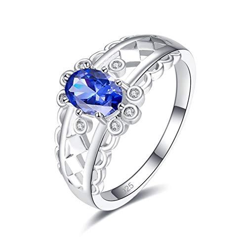Ai.Moichien 925 Sterling Silver Kate Middleton Princesa Diana Anillo De Compromiso De Nanoesmeralda Verde Simulado