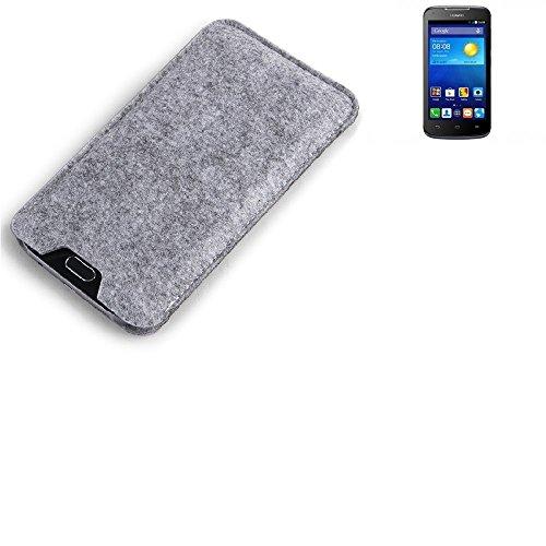 K-S-Trade® Filz Schutz Hülle Für Huawei Ascend Y540 Schutzhülle Filztasche Filz Tasche Case Sleeve Handyhülle Filzhülle Grau