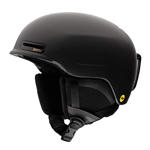 Smith Optics Womens Allure MIPS Ski Snowmobile Helmet - Matte Black Pearl/Medium