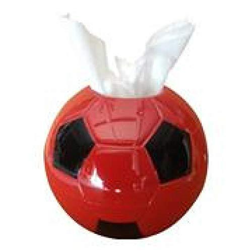 LIUJUAN Caja De Pañuelos Rubik Toalla De Papel De Fútbol Creativo para El Hogar/Caja De Pañuelos De Cilindro De Tejido 17 * 10 * 17 Cm-Rojo