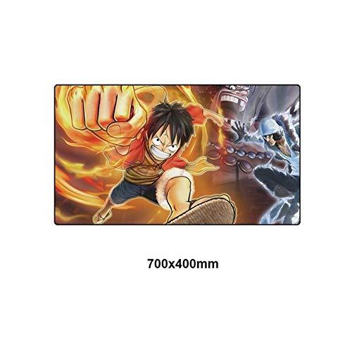 Twhoixi 70 * 40 cm Ein Stück Mauspad Spiel Mauspad Große Anime Cartoon Gummi Tastatur Schreibtisch Matte Pad, DM-HZW002