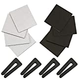 NCX Ceiling Fan Balancing Kit 4 Sets Includes 8 PCS Upgraded Self-Adhesive 5G Ceiling Fan Blade Weights and 4 PCS Plastic Resilient Fan Clip on Weight,Ceiling Fan Balance Kit