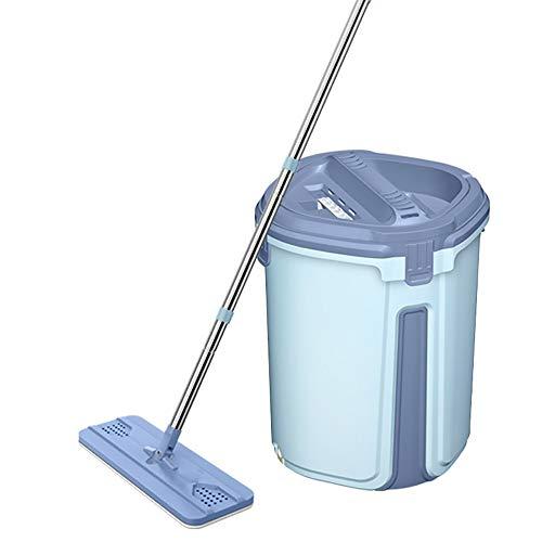 Byx HF- roterende mop - handvrije huishouden luier vlakke mop houten vloer nat- en droogwismop kunst - mop