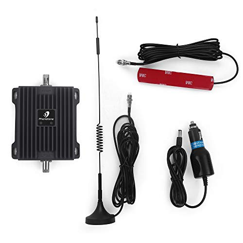 Cell Phone Signal Booster for Car and Truck - Increase 4G LTE Data for Verizon and at&T - Dual Band 700MHz Signal Amplifier Kit for Vehicle Use