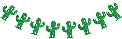 LUOEM Kaktus Banner Kaktus Party Banner Stoff Garland Banner für Tropische Party Geburtstag Hochzeit Festival Dekoration