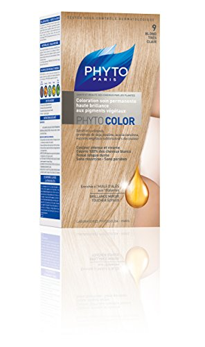Phyto Color Permanent Color-Treatment Ultra Shine with Botanical Pigments - Colour : N°9 : Very Fair Blond