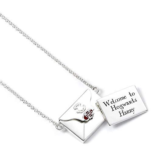 Harry Potter The Carat Shop - Collar de plata de ley con diseño de letra de aceptación