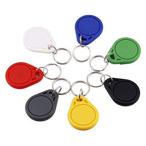Timeskey NFC Tags NXP NTAG215 NFC Kefob,NFC Tag Gleicher Kompatibel Mit Amiibo,504 Bytes Speicher / 7 Stück/Bunte Farbe