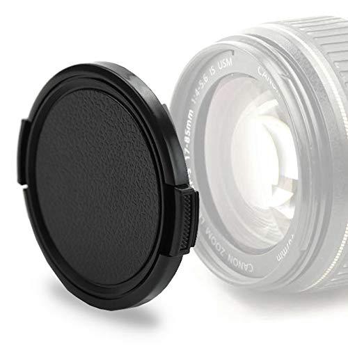 Tapa objetivo frontal compatible con Nikon AF-P DX Nikkor 70-300 mm 4.5-6.3 G ED VR, AF-S DX Nikkor 55–300mm 4.5-5.6G ED VR, 50 mm 1.4G, 1.8G - Ø 58mm, Snap-On: Abrazadera lateral Cubierta Protectora
