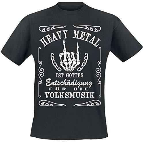 Heavy Metal Männer T-Shirt schwarz L 100% Baumwolle Fun-Merch, Musik, Sprüche