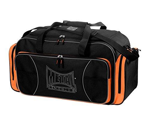 Metal Boxsack MB029O Sporttasche Club Unisex Erwachsene, Schwarz/Orange, Einheitsgröße