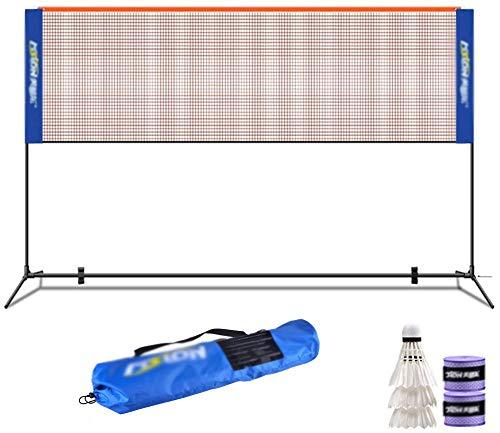 LTOOTA Professionelles Badmintonschläger-Matchnetz, einfaches zusammenklappbares Trainingsnetz, tragbares Netz für den Innenhof im Innenhof,6.1M