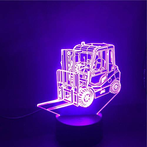 Ledlamp, 3D-wagen met afstandsbediening, bluetooth, voor telefoon, wekker, basisdecoratie, werkt op batterijen