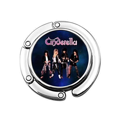 Cinderella Rock Band Foldable Purse Hook Handbag Hangers For Table Handbag Storage Folding Decor Table Hook