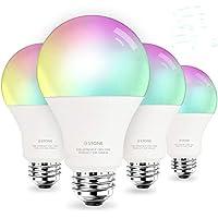 4 Pack 3Stone A21 10W E26 WiFi LED Smart Light Bulbs