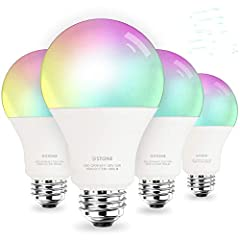 Upgraded Brightness to 1050 Lumens---Compared to normal A19 smart bulbs, 3Stone A21 smart bulb is made of more solid material and with brightness to 1050 lumens which is 30% much brighter to light up your whole room, equivalent to traditional 100W bu...