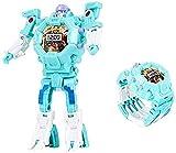 Montre de rangement de robot de robot de robot de robot 3 en 1 pour enfants montre, montre numérique robotique pour enfants, montres de héros de bande dessinée garçons cadeau pour les tout-petits défo