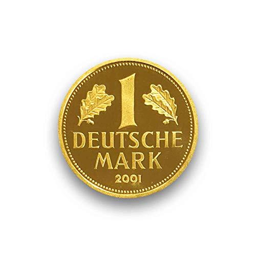 """DEUTSCHLAND / GERMANY / ALLEMANGNE 1 DM GOLDDM GEDENKMÜNZE \"""" 1 Deutsche Goldmark 2001 \"""" - 999er Feingold 12g Gold - Goldmünze ANLAGEMÜNZE - im original Etui mit Zertifikat"""