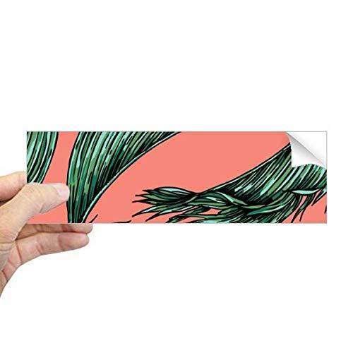 DIYthinker Bloem Plant Blad Roze Hemel Gelukkig Rechthoek Bumper Sticker Notebook Window Decal