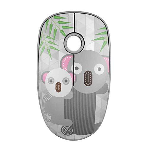 Yowablo Drahtlose Kabellose Maus, Maus kabellos Mini 2.4G für PC Notebook-Computer (Grau)