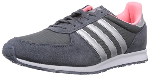 adidas Originals Adistar Racer Damen Sneakers, Grau (Onix/Silver Metallic/Light Flash Red S15), 42