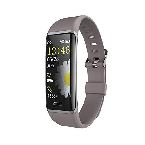 XUEXIU Monitoreo De Ritmo Cardíaco Impermeable Monitoreo De La Presión Arterial Deportes Smart Pulsera Reloj De Salud Pulsera Deportiva (Color : Grey)