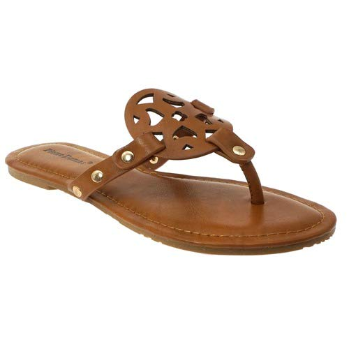 Pierre Dumas Women's Limit 20 New Tan Syntheticsandals 9 B(M) US