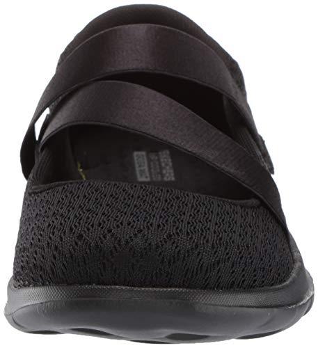 SKECHERS - Merceditas con Velcro DE Tiras para Mujer Color: Negro Talla: 36