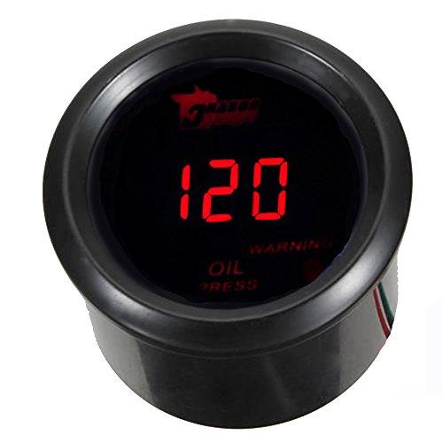 """ESUPPORT Car 2"""" 52mm Digital Oil Press Pressure Gauge Red LED"""