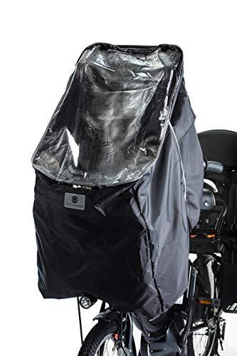 Active Winner 子供乗せ自転車 チャイルドシート レインカバー 自転車 前 撥水加工 収納バッグ付