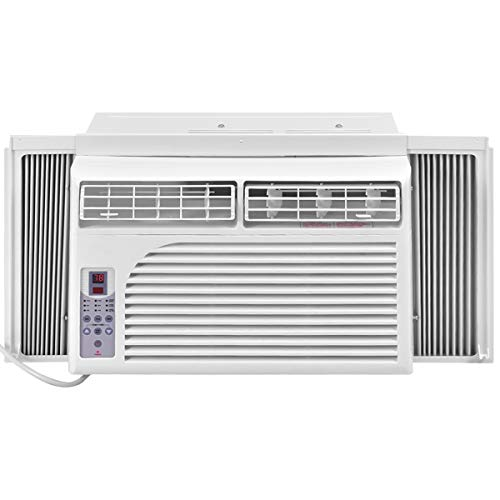 COSTWAY Cold Air Conditioner Window-Mounted Compact with Remote Control, White (8000 BTU)