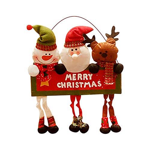 Decoración de Navidad para ventana de Navidad, Navidad, fiesta de Papá Noel, decoración de puerta de 2020, decoración de Navidad para varios festivales